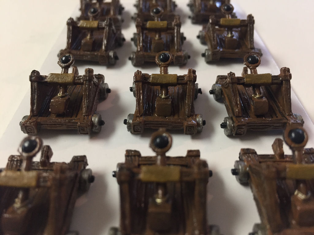 Painted Catapults from Shadows Over Camelot