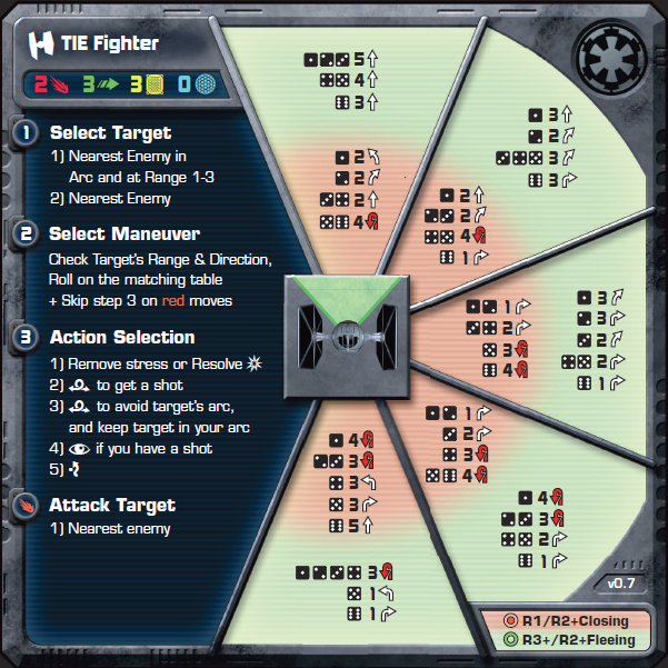 TIE Fighter AI Card - Heroes of the Aturi Cluster