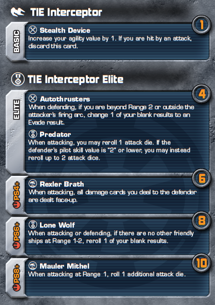 TIE Interceptor Elite Card - Heroes of the Aturi Cluster